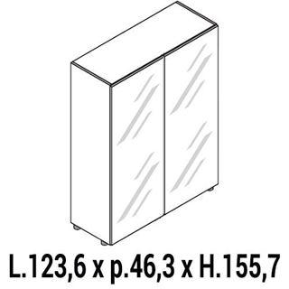 Immagine di IULIO HG: Mobile contenitore medio a 2 ante chiuso