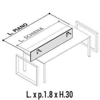 Immagine di 5th ELEMENT : Schienale per scrivanie con gamba a ponte o gamba a loop