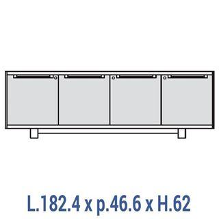 Immagine di 70's: Contromobile L.182 a 4 ante con serratura