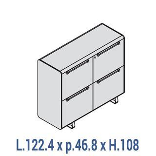Immagine di 70's: Contromobile L.122 a 4 ante con serratura