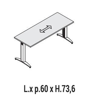 Immagine di Oxi Basic: Scrivania lineare P.60