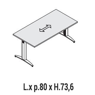 Immagine di Oxi Basic: Scrivania lineare P.80