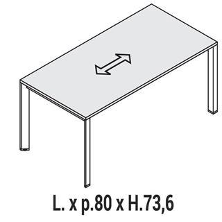 Immagine di Oxi Trend: Scrivania lineare P.80