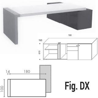 Immagine di Kyo scrivania con contenitore DX/SX e gambe a ponte