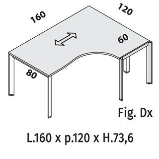 Immagine di Oxi Trend: Workstation P.120 con Gamba a ponte