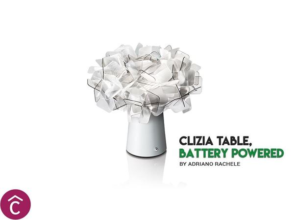 Clizia Table Battery di Slamp