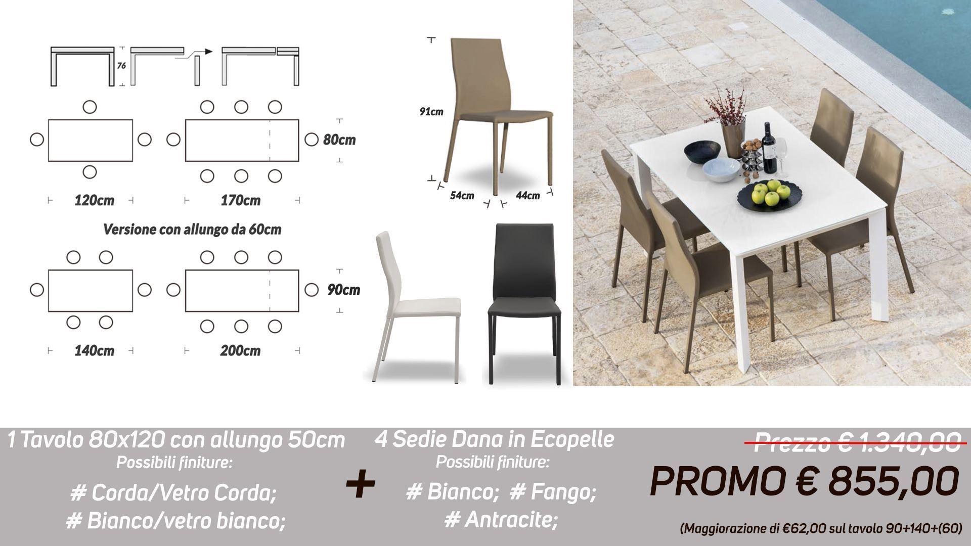 Offerte Tavoli Allungabili E Sedie.Vendita Online Di Mobili Per La Casa E L Ufficio Tavolo E Sedie In