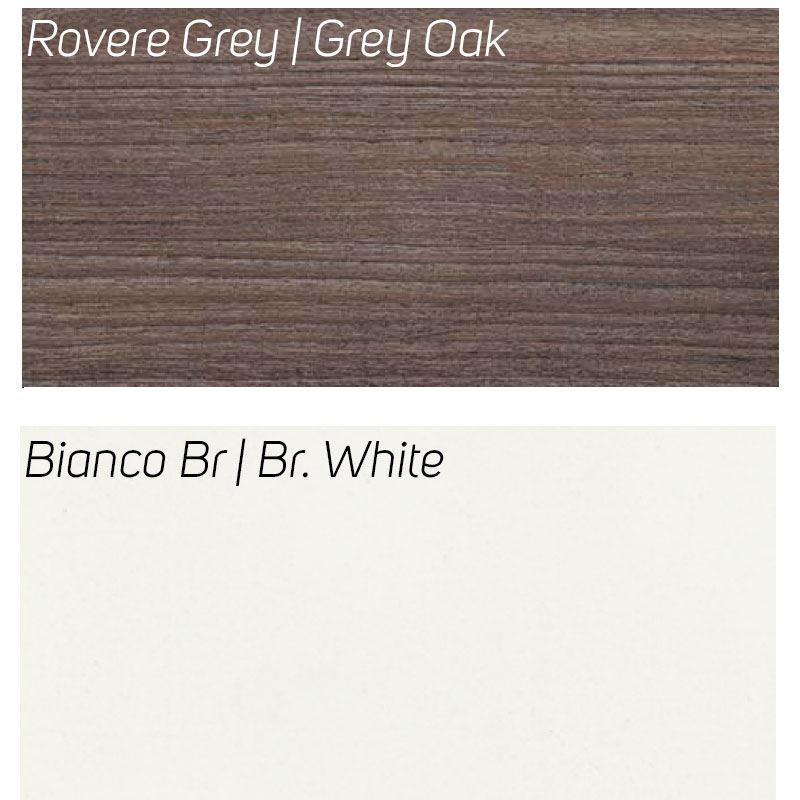 Rovere Grey / Bianco Br