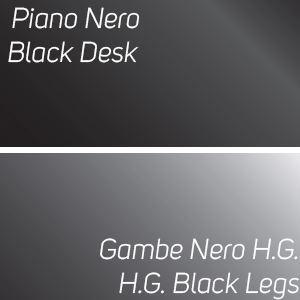 Piano Nero / Gambe Nero High Gloss