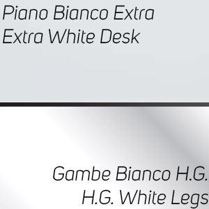 Piano Bianco Extra / Gambe Bianco High Gloss