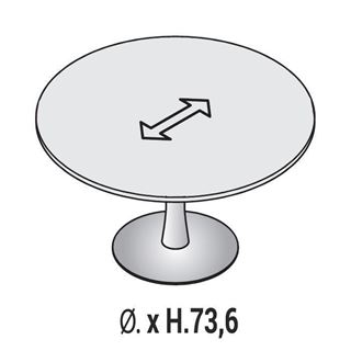 Immagine di Oxi Trend: Tavolo Riunione circolare