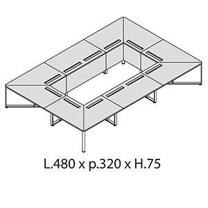 L.480 x p.320 x H.75 [+€2100,00]
