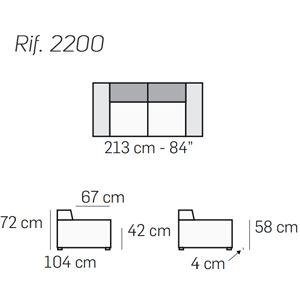 Lunghezza 213cm [+€446,00]