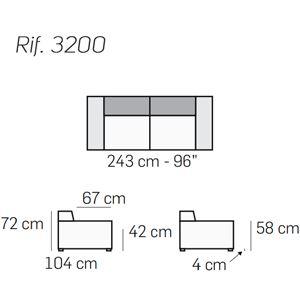 Lunghezza 243Cm [+€121,00]