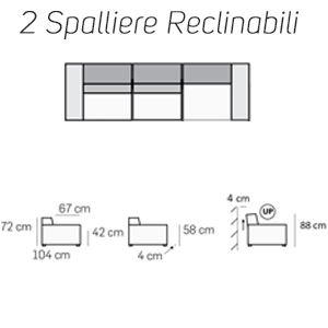 2 Spalliere Reclinabili [+€588,00]