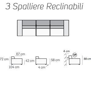 3 Spalliere Reclinabili [+€878,00]