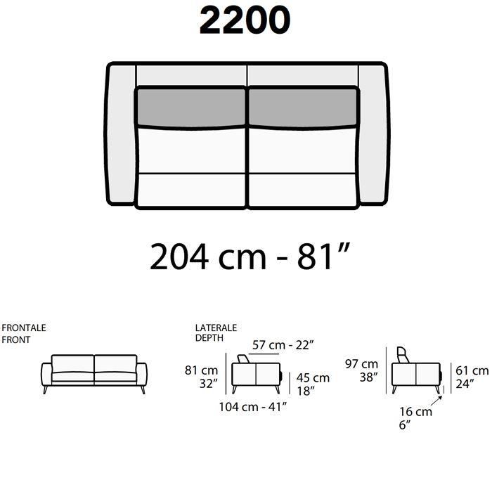 Lunghezza Divano 204Cm [+€453,00]