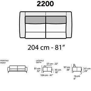 Lunghezza 204cm [+€453,00]