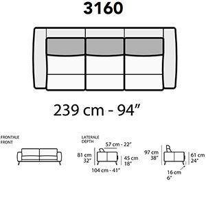 Lunghezza 239Cm [+€254,00]