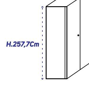 H.257,7Cm [+€146,00]