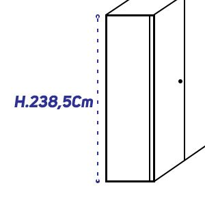 H.238,5Cm [+€413,00]