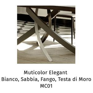 Acciaio Multicolor elegant MC01(Bianco, sabbia, fango, testa di moro) [+€146,00]