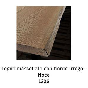 Legno massellato con bordo irregolare noce L206 (Sp.5cm) [+€1000,00]