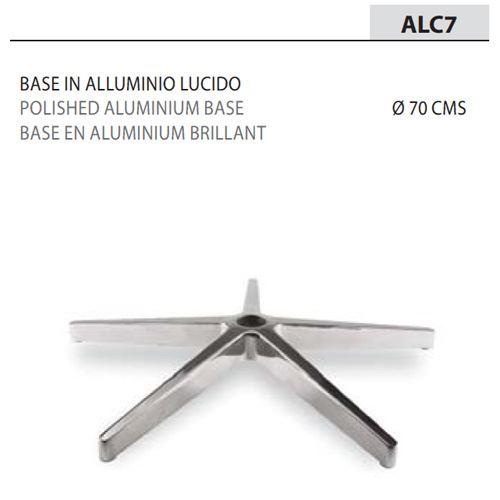 Base Alluminio Lucido Ø70/Braccioli neri [+€45,00]