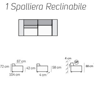 1 Spalliera Reclinabile [+€301,00]