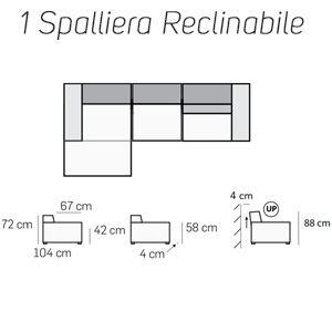 1 Spalliera Reclinabila [+€301,00]