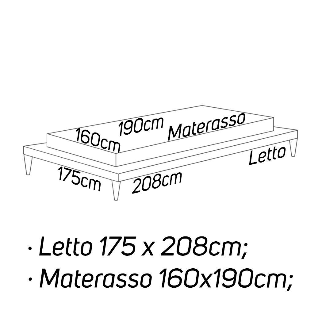 L: 175 x 208 - M: 160 x 190