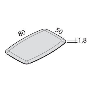L.80cm  x P.50 cm