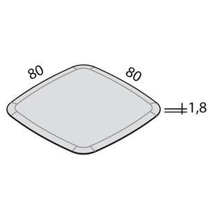 L.80cm x P.80 cm [+€70,00]