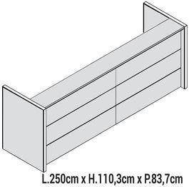 Lunghezza 250cm [+€889,00]