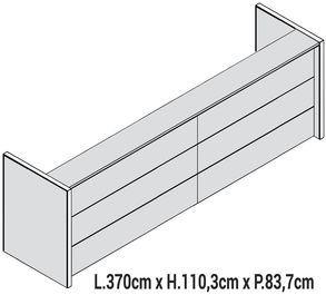 Lunghezza 370cm [+€1415,00]