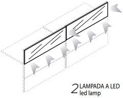 2 Lampade Led [+€965,00]