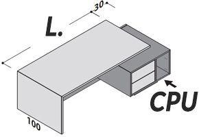 Con Cassettiera e Porta-CPU [+€51,00]