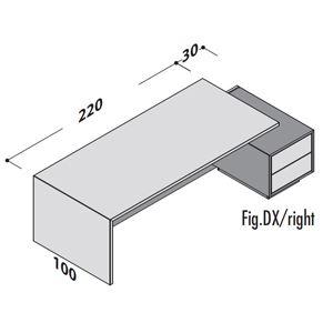Lunghezza 250cm DX [+€50,00]