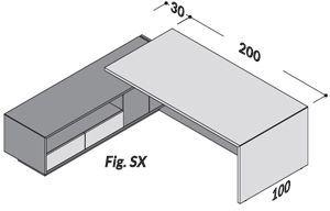 Lunghezza 230cm SX