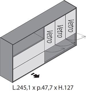 H.127cm Ante Vetro [+€417,00]