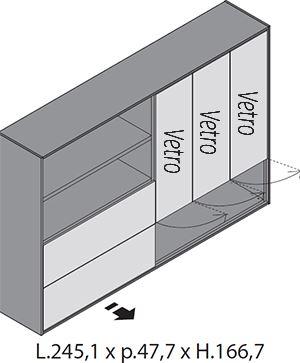 H.166,7cm Ante Vetro [+€617,00]
