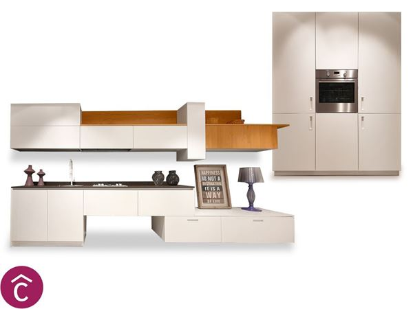 Arredamento Casa Moderna Bianca.Cucina Moderna Lineare Bianca Dos Srl Bari Arredamento