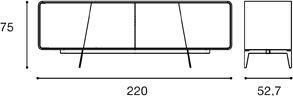 Lunghezza 220cm [+€134,00]