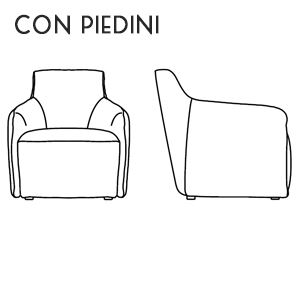 Poltroncina con Piedini [+€17,00]