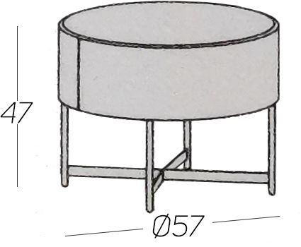 Diametro Ø57cm