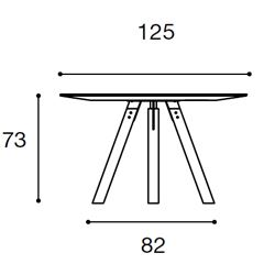 Diametro Ø125cm