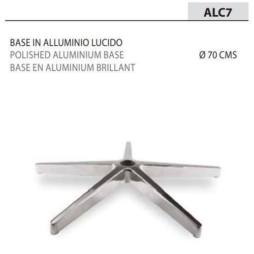 Base Alluminio Lucido Ø70/Braccioli neri [+€36,00]