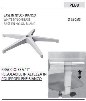 Base Bianco Ø68