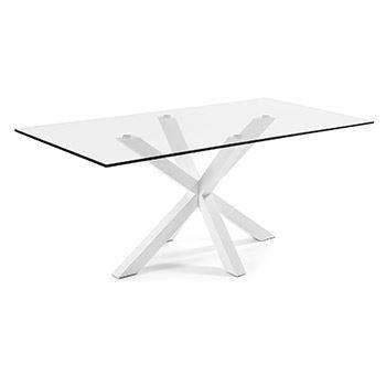 Struttura Bianco/Piano Vetro Trasparente