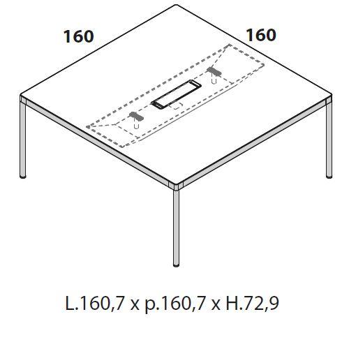 Tavolo riunione 160 [+€259,00]